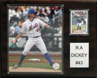 """New York Mets R.A. Dickey 12"""" x 15"""" Player Plaque"""