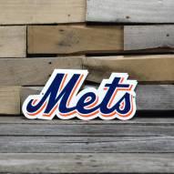 """New York Mets Script 12"""" Steel Logo Sign"""
