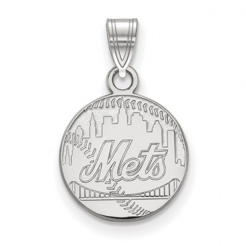 New York Mets Sterling Silver Small Pendant