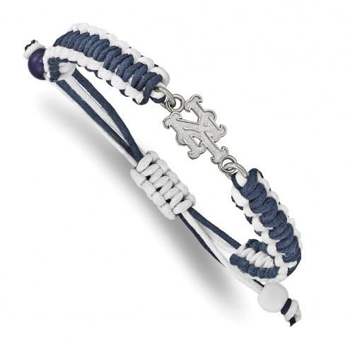 New York Mets Stainless Steel Adjustable Cord Bracelet