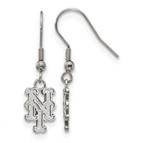 New York Mets Stainless Steel Dangle Earrings