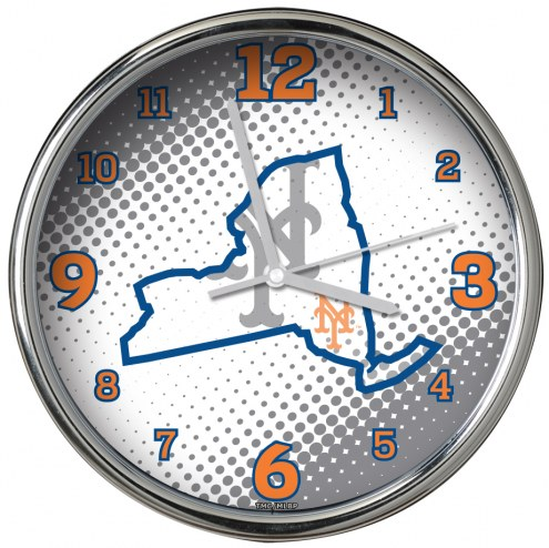 New York Mets State of Mind Chrome Clock