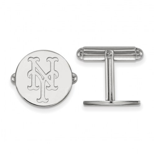 New York Mets Sterling Silver Cuff Links