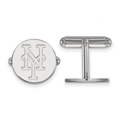 New York Mets Sterling Silver Cuff Links