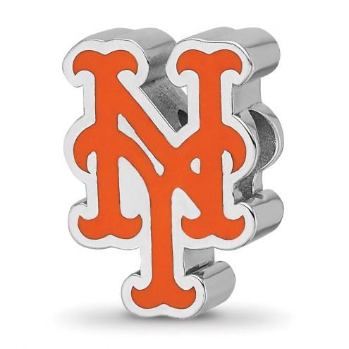 New York Mets Sterling Silver Enameled Bead