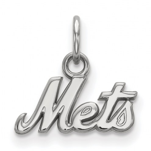 New York Mets Sterling Silver Extra Small Pendant