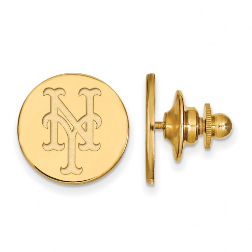 New York Mets Sterling Silver Gold Plated Lapel Pin