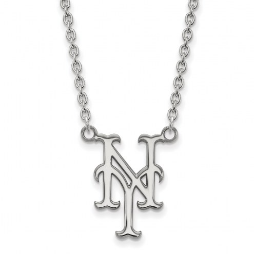 New York Mets Sterling Silver Large Pendant Necklace