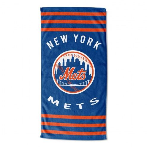 New York Mets Stripes Beach Towel