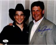 New York Mets Tom Seaver signed horizontal with Clint Black 8 x 10
