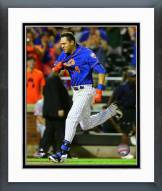 New York Mets Wilmer Flores Action Framed Photo