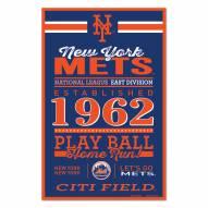 New York Mets Established Wood Sign