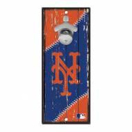 New York Mets Wood Bottle Opener