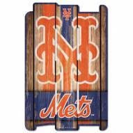 New York Mets Wood Fence Sign