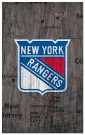 "New York Rangers 11"" x 19"" City Map Sign"