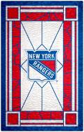 """New York Rangers 11"""" x 19"""" Stained Glass Sign"""