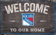 """New York Rangers 11"""" x 19"""" Welcome to Our Home Sign"""