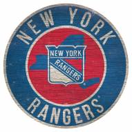 """New York Rangers 12"""" Circle with State Sign"""