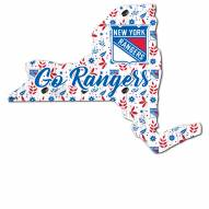 """New York Rangers 12"""" Floral State Sign"""