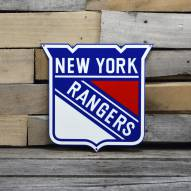 """New York Rangers 12"""" Steel Logo Sign"""