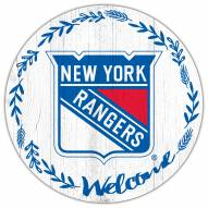 """New York Rangers 12"""" Welcome Circle Sign"""