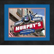 New York Rangers 13 x 16 Personalized Framed Sports Pub Print