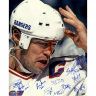 New York Rangers 1994 Multi Signed and Mark Messier Blood 16 x 20 Metallic Photo