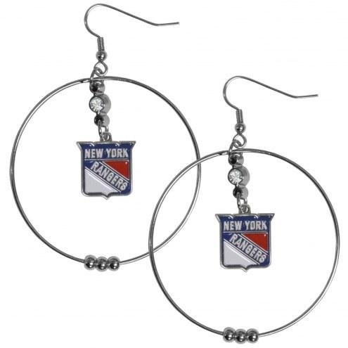 """New York Rangers 2"""" Hoop Earrings"""