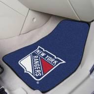 New York Rangers 2-Piece Carpet Car Mats