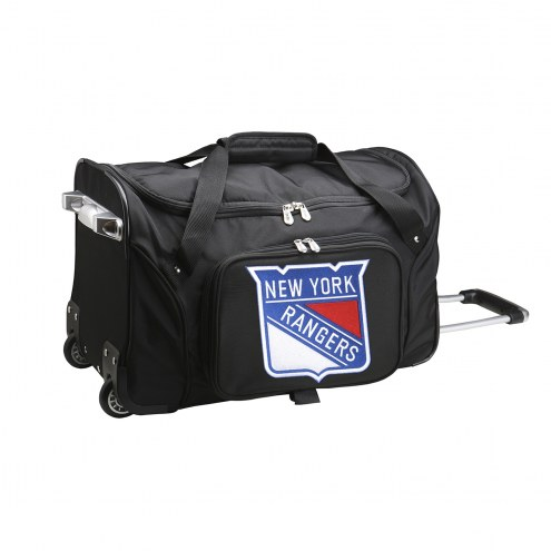 "New York Rangers 22"" Rolling Duffle Bag"