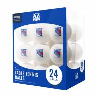 New York Rangers 24 Count Ping Pong Balls