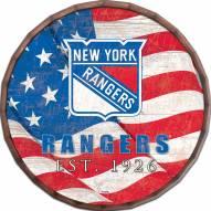 "New York Rangers 24"" Flag Barrel Top"