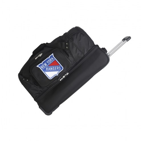 "New York Rangers 27"" Drop Bottom Wheeled Duffle Bag"