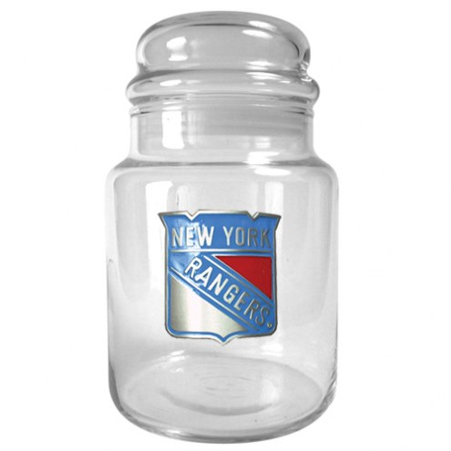 New York Rangers 31 Oz. Glass Candy Jar