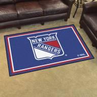 New York Rangers 4' x 6' Area Rug