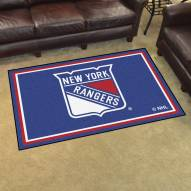 New York Rangers 4' x 6' Area Rug