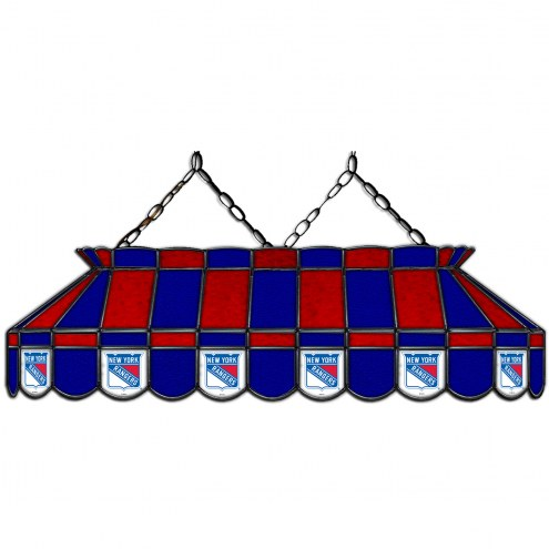 "New York Rangers 40"" Stained Glass Billiard Lamp"