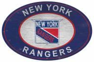 "New York Rangers 46"" Heritage Logo Oval Sign"