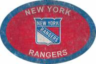 """New York Rangers 46"""" Team Color Oval Sign"""