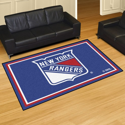 New York Rangers 5' x 8' Area Rug