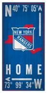 "New York Rangers 6"" x 12"" Coordinates Sign"