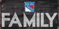 """New York Rangers 6"""" x 12"""" Family Sign"""