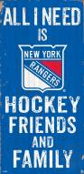 "New York Rangers 6"" x 12"" Friends & Family Sign"