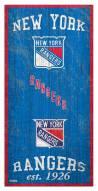 """New York Rangers 6"""" x 12"""" Heritage Sign"""