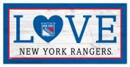 "New York Rangers 6"" x 12"" Love Sign"