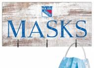 """New York Rangers 6"""" x 12"""" Mask Holder"""