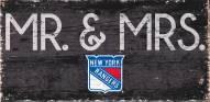 """New York Rangers 6"""" x 12"""" Mr. & Mrs. Sign"""