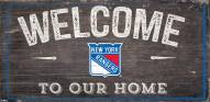 """New York Rangers 6"""" x 12"""" Welcome Sign"""