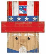 """New York Rangers 6"""" x 5"""" Patriotic Head"""