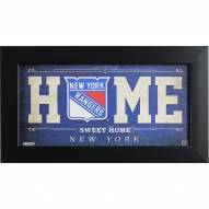 New York Rangers 6 x 12 Home Sweet Home Sign